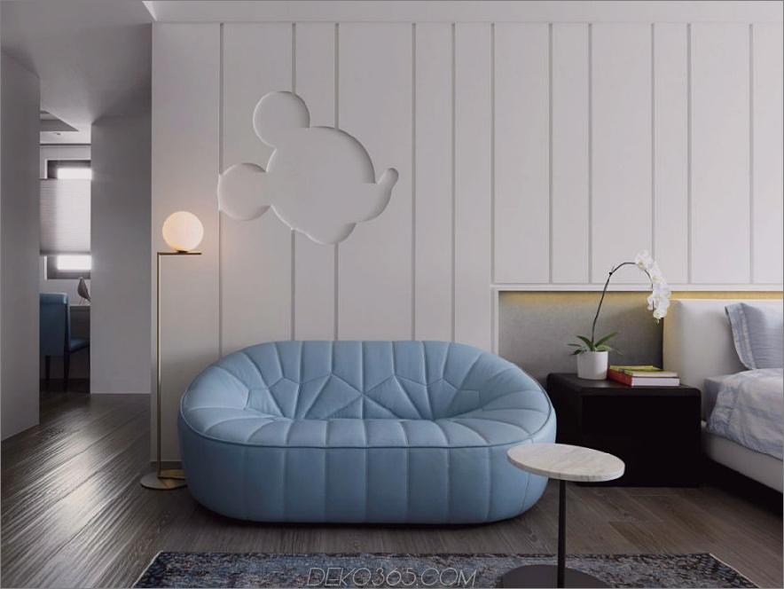 Wände und Decke sind kreativ gestaltet