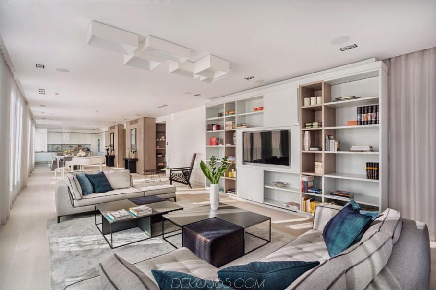 Offenes Layout in einem langen Hauptraum unterteilt sich visuell in zwei Hauptbereiche. 900x599 Dieses bulgarische Penthouse ist einfach perfekt