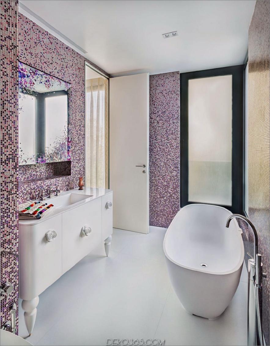 Mosaikfliesen sehen aus wie pixelige Tapeten