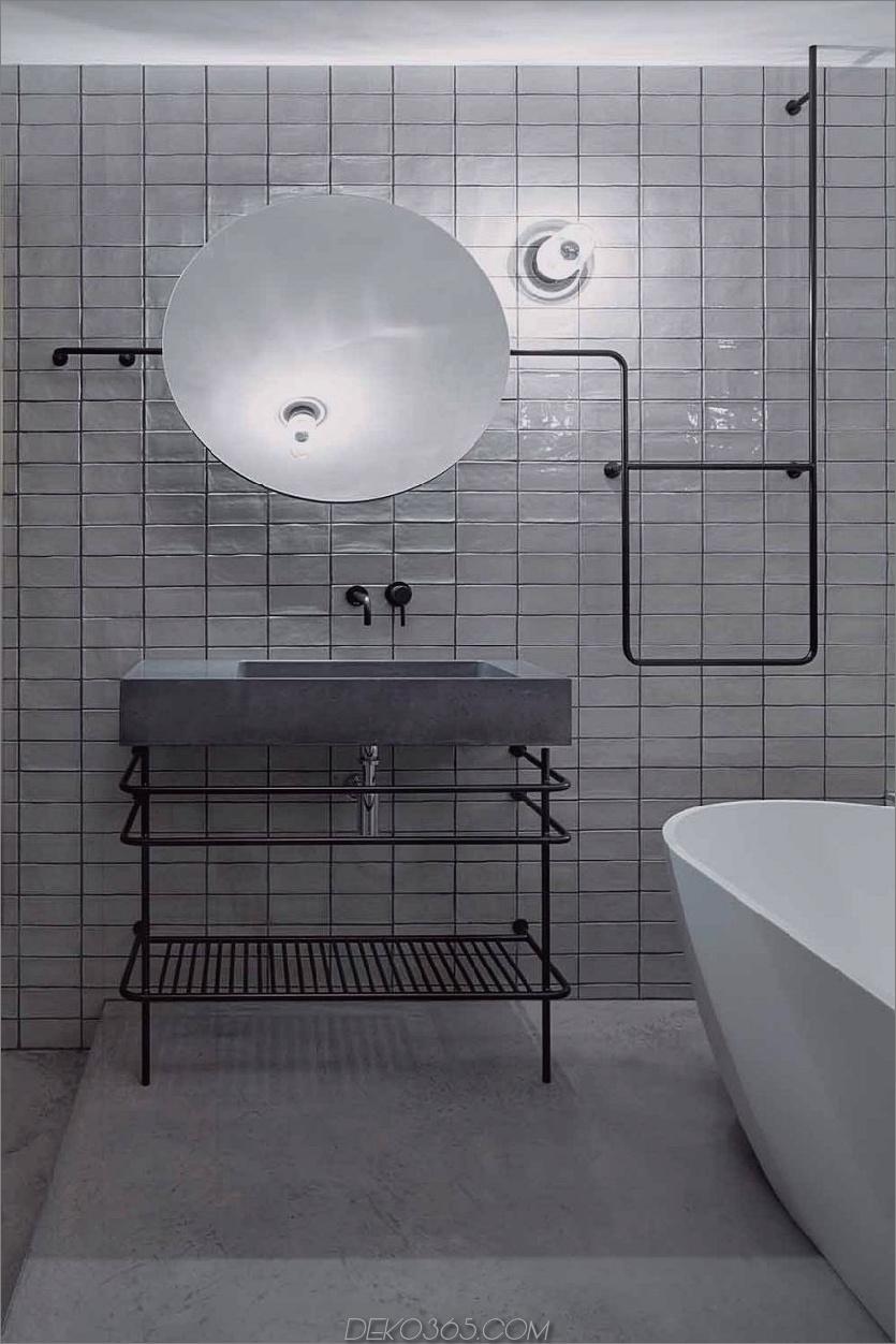 Kaltes aber stilvolles Bad