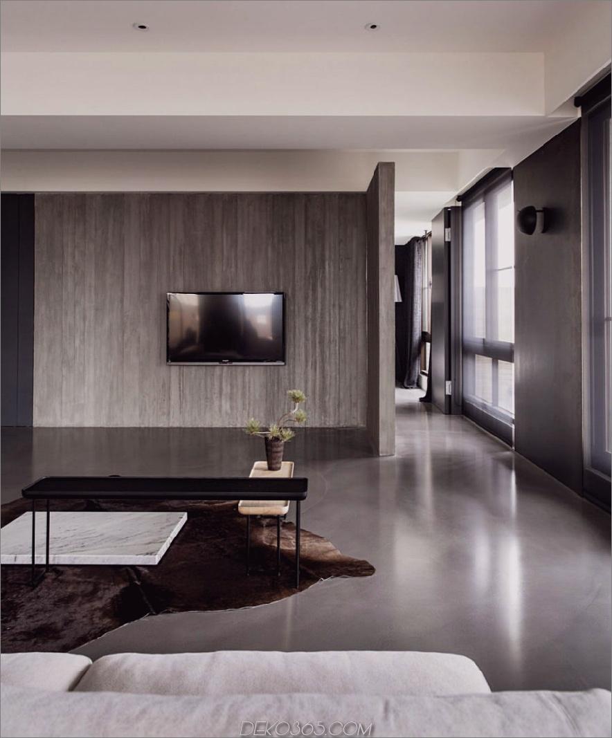 TV-Wand ist minimal