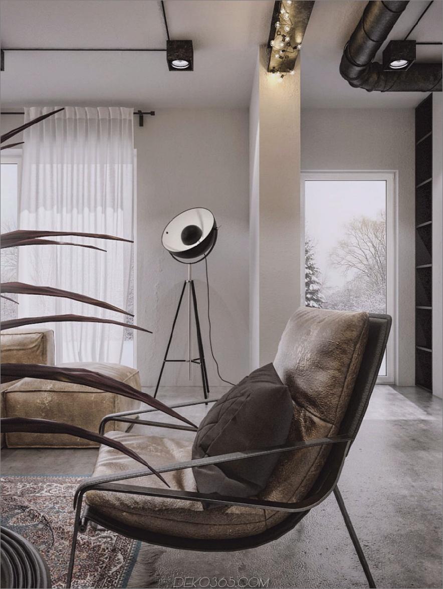 Polierte industrielle Ästhetik mit einem Hauch von Luxus 900x1197 Dieses zeitgenössische Loft-Projekt beweist, dass industrieller Look luxuriös sein kann