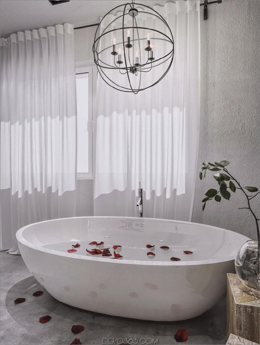 Freistehende Whirlpool-Badewanne