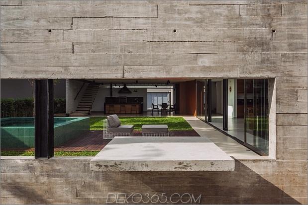 Dual Direction Haus aus Beton umgibt den Innenhof am Pool Brasilien 2 Betonwand thumb 630x420 19828 Dual Direction Haus aus Beton umgibt den Pool Courtyard in Brasilien
