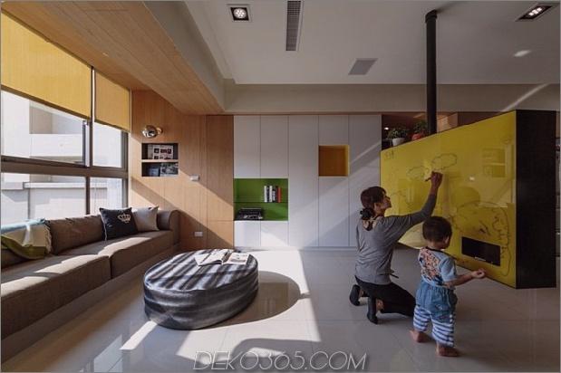 Schwenkbarer Fernseher verwandelt verspielte Wohnung in Unterhaltungsbereich 2 thumb 630xauto 41696 Schwenkbarer Fernseher verwandelt spielerische Wohnung in Unterhaltungsbereich