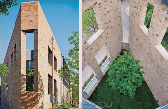 dreieckiger Hausplan dreistöckiges Atrium 2 dreieckiger Hausplan mit dreistöckigem Atrium