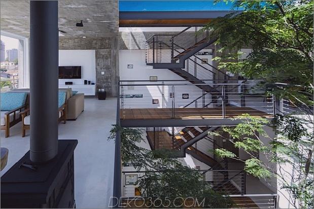 Brasilianisch-Beton-Haus-gebaut-rund-dreistöckiger Hof-Baum-19-Third-Level-Übersehen.jpg