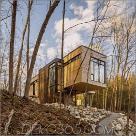 Schönheit in Harmonie: Cantilevered Lake Cottage mit White Cedar Exteriors und White Oak Interiors