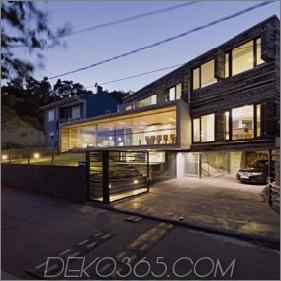 Energieeffizientes Zuhause mit Außen- und Innenelementen aus recyceltem Holz