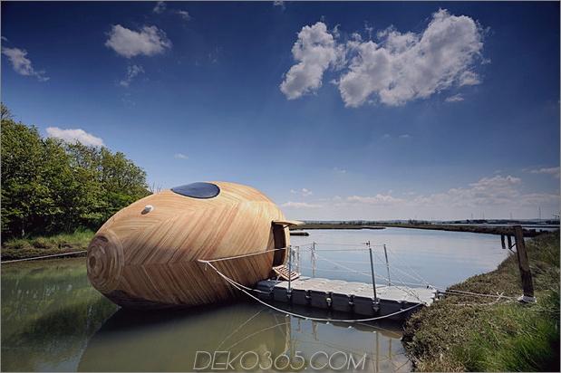 Mobiles aquatisches Zuhause minimales Leben angedockter Daumen 630x419 15280 Ein mobiles Aquatic Pod-Zuhause für ein minimales Leben