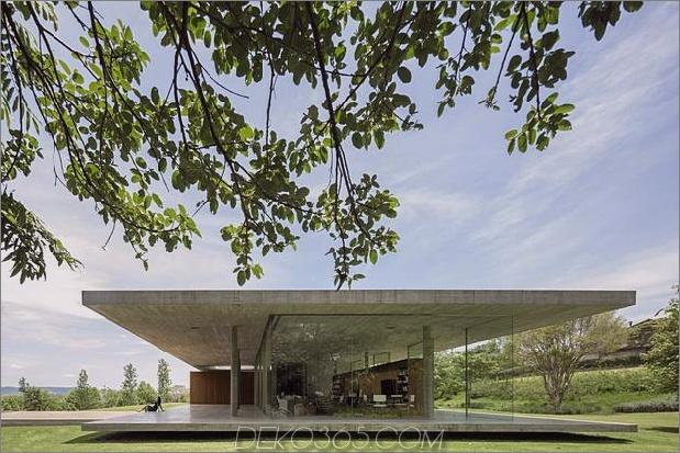 home ein dach fünf separate columes 2 thumb 630xauto 50757 Ein geschossiges Haus zwischen zwei Betonplatten