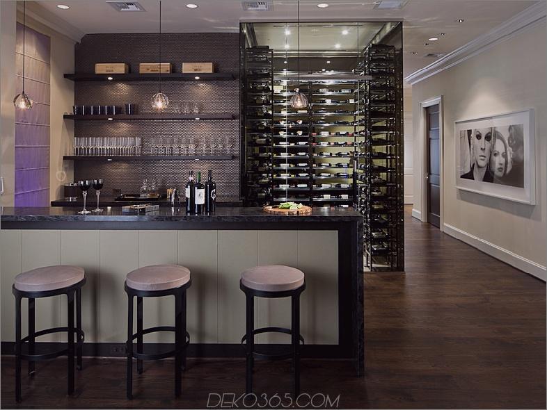 Stilvolle zeitgenössische Bar und Weinkeller