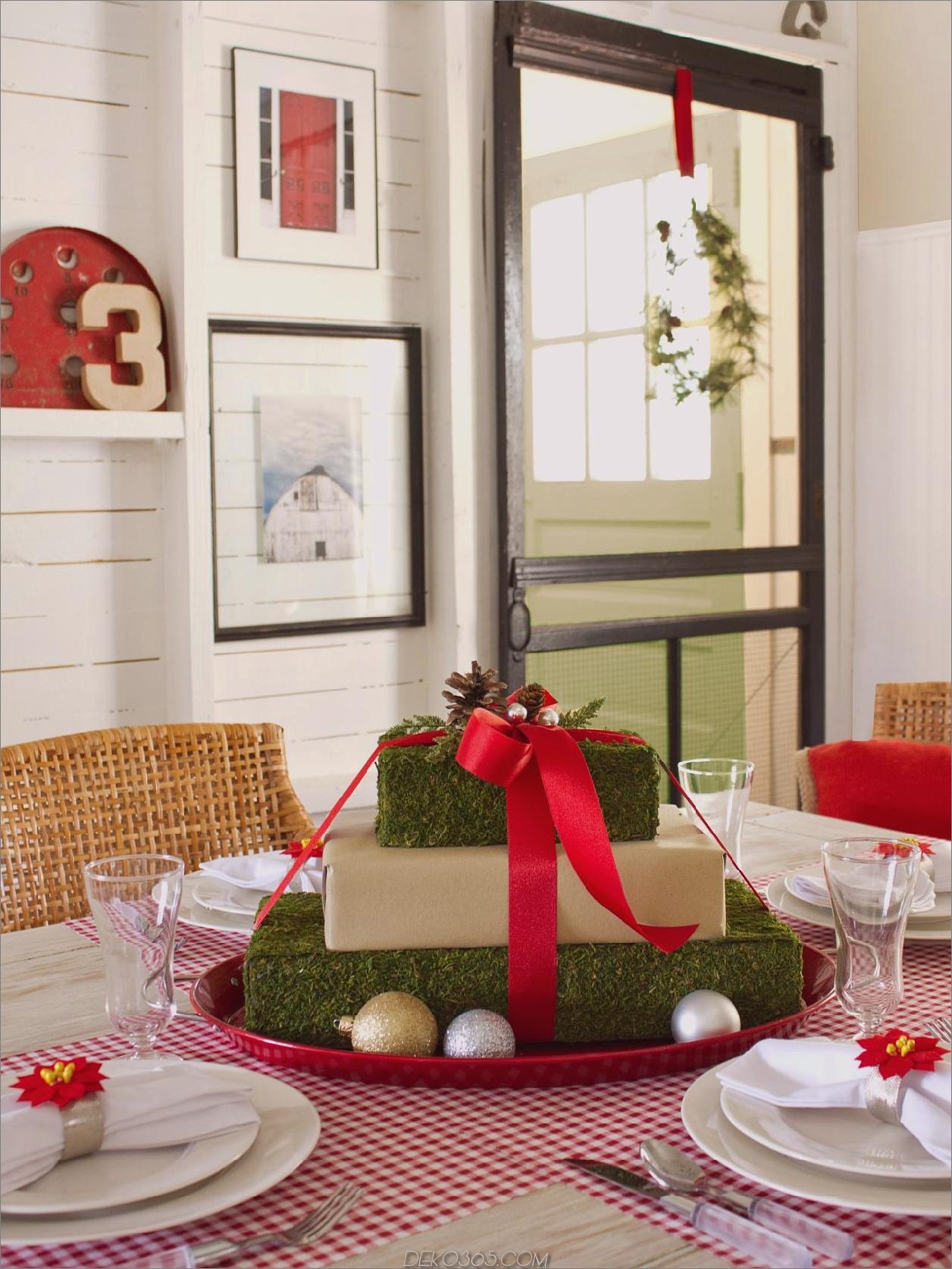 Einfache Weihnachtsmittelstücke für alle Dekorationsstile