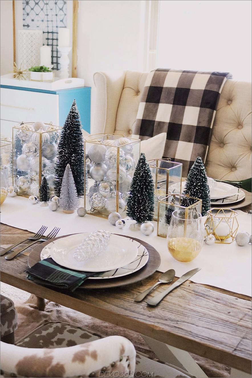 tiny christmas tree centerpiece.jpg 2 einfache Weihnachts-Mittelstücke für alle Dekorationsstile