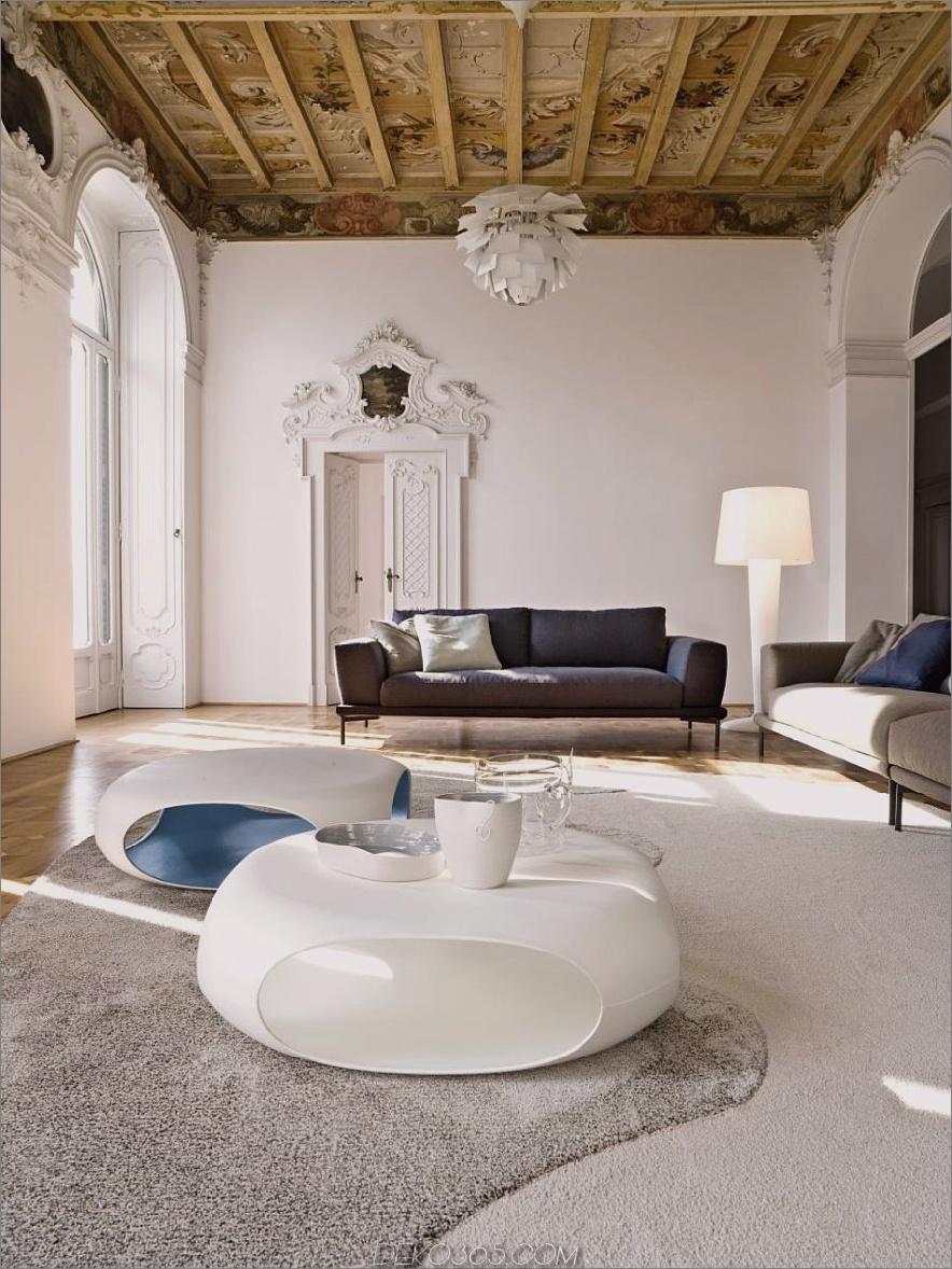 Italienisch inspiriertes Wohnzimmer mit einer einzigartigen Holzdecke