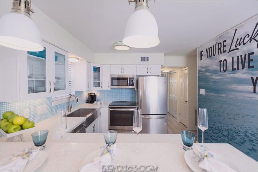 Küche mit Fototapete