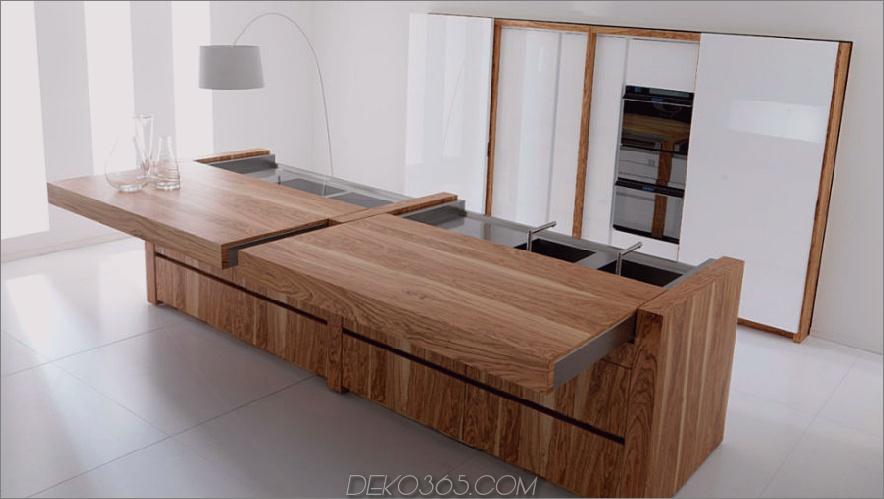 Toncelli-Kücheninsel mit Schiebedach