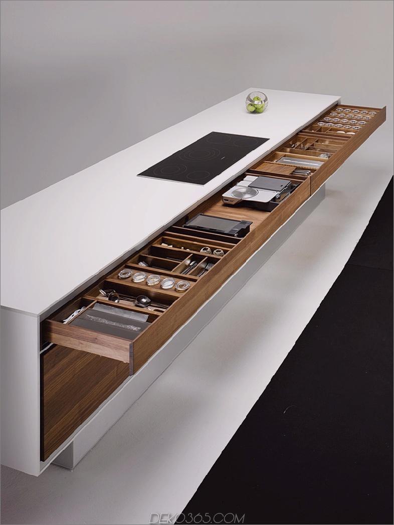 Team 7 Kücheninsel mit einer ausziehbaren Schublade