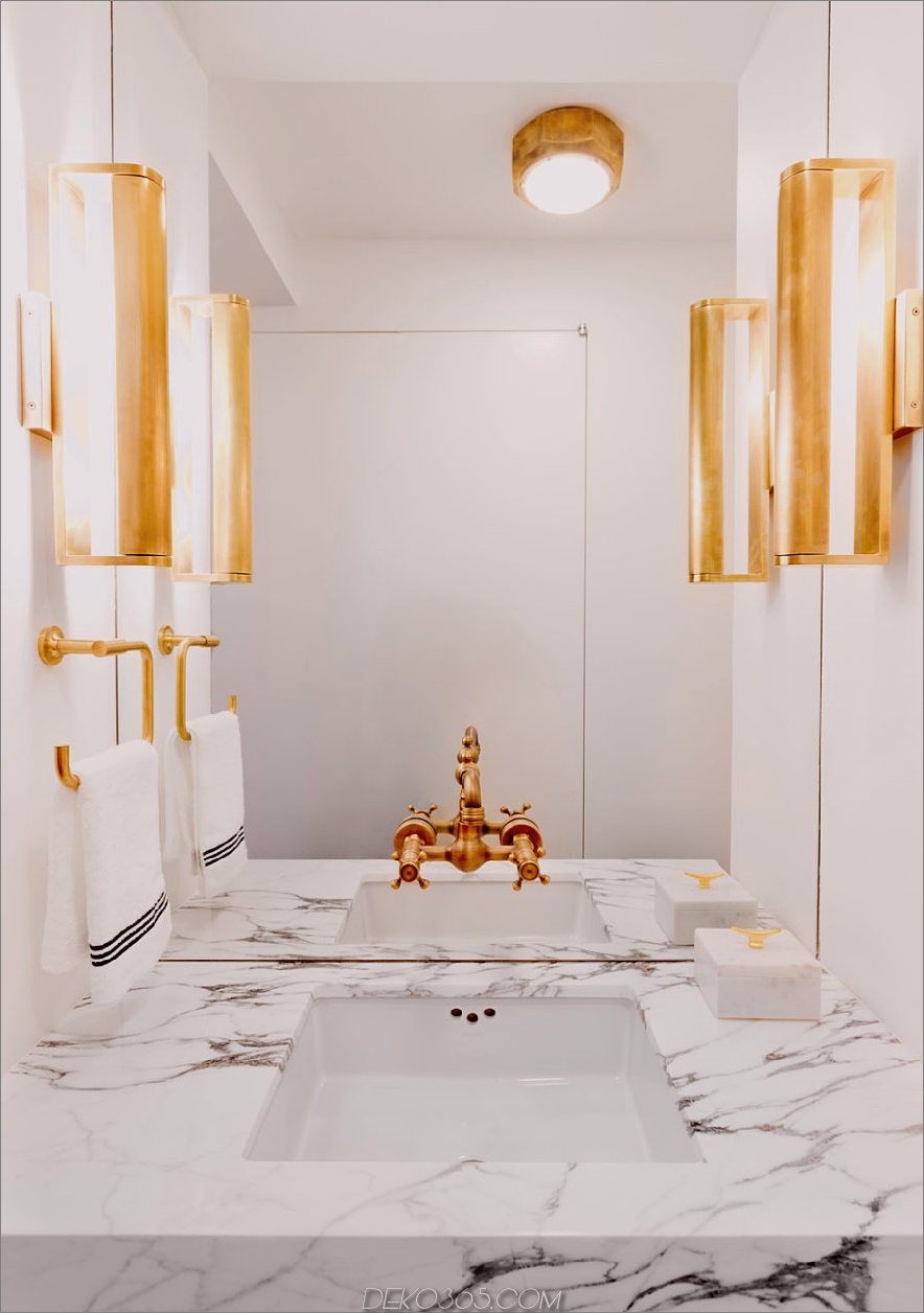 Moderne, schlanke Gästetoilette