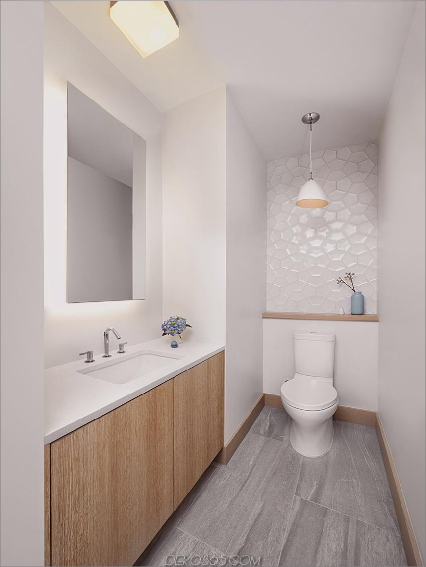 Zeitgenössische moderne Gästetoilette
