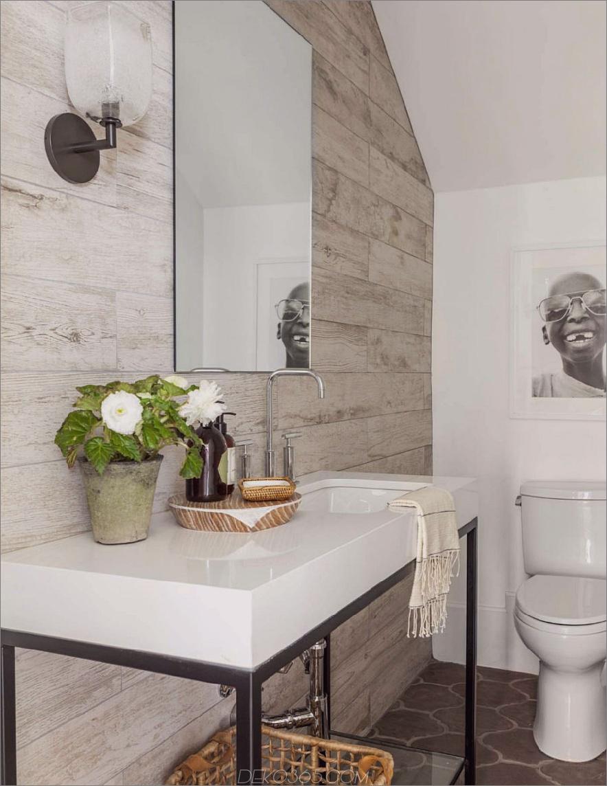 Moderne mediterrane Traumhaus-Gästetoilette