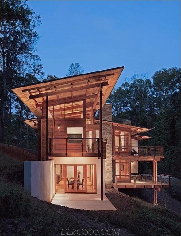 erdfreundliches zeitgenössisches Holzhaus 1 Erdiger Stil und Umgebung, umweltfreundliche Erde: Zeitgenössisches Holzhaus hat alles