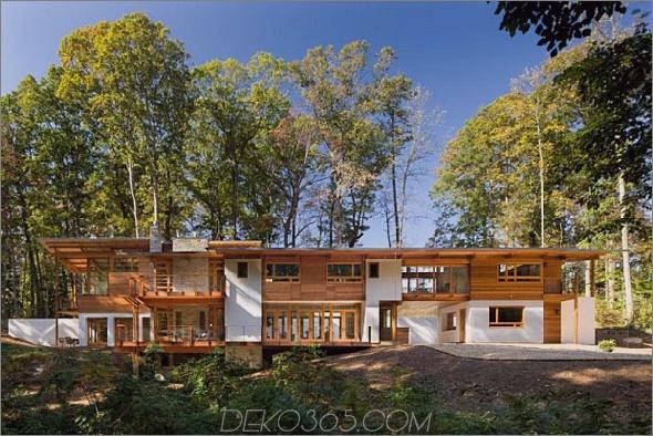 erdfreundliches zeitgenössisches Holzhaus 2 Erdiger Stil und Umgebung, umweltfreundliches Design der Erde: Zeitgenössisches Holzhaus hat alles