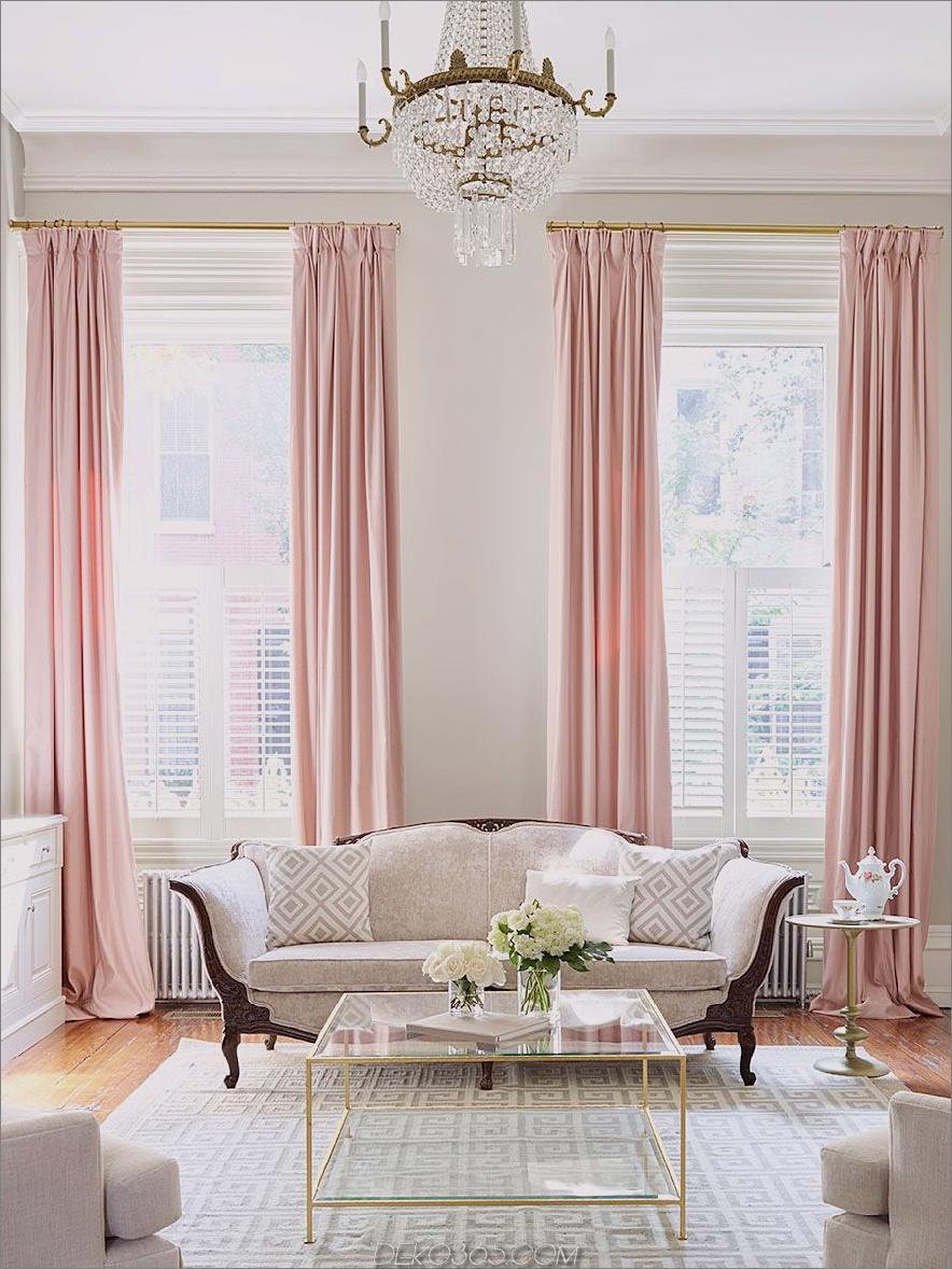 Blush-Vorhänge Blush-Pink-Akzente, die die Design-Welt komplett einnehmen