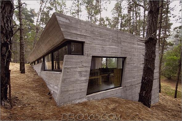 betonhausplan bak architects argentina 1 Amazing Concrete House Plan für ein rustikales Waldhaus in Argentinien