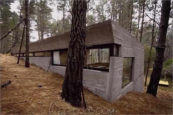 betonhausplan bak architects argentina 2 Amazing Concrete House Plan für ein rustikales Waldhaus in Argentinien