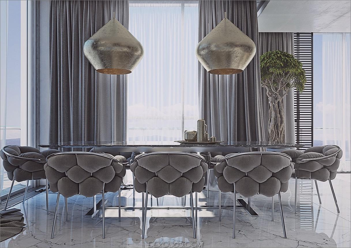 maskuline graue Palette Esszimmer-Upgrades mit einem Hauch von männlicher Schönheit