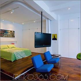 Kreative Lösungen für kleines Loft-Apartment