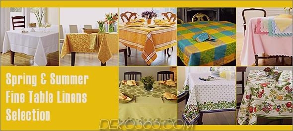 feine Tischwäsche Trend Feine Tischwäsche für Sommerwäsche aus Leinen von Designer Lillian Pikus