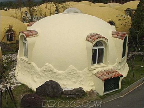 Kuppelhaus 1 Fertigstyropor Dome House Futuristisches japanisches Design