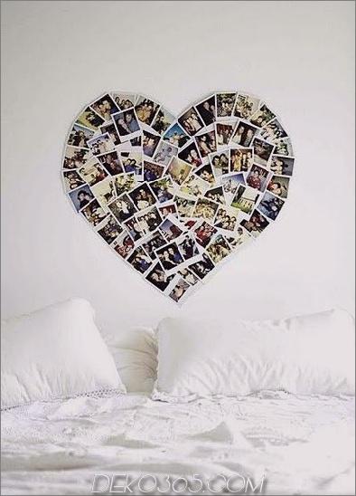 Herz Fotocollage Fotowand-Collage ohne Rahmen: 17 Layout-Ideen
