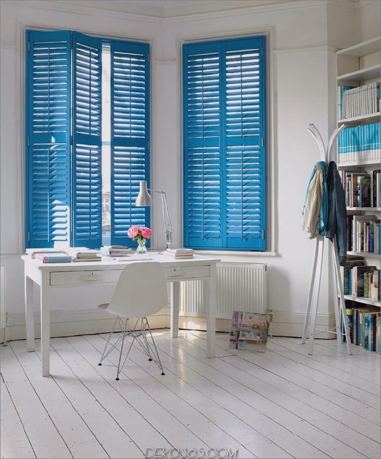 Griechisch blaue Innenfensterläden