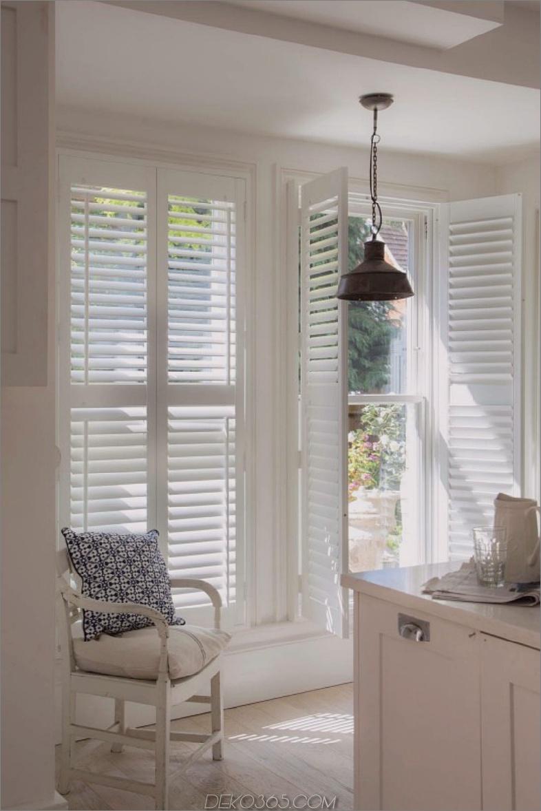 weiße Küchentür Fensterläden
