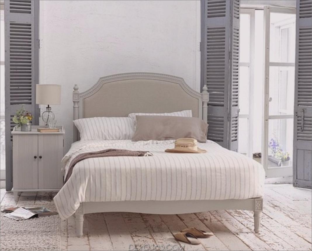 Graue rustikale Schlafzimmerfensterläden