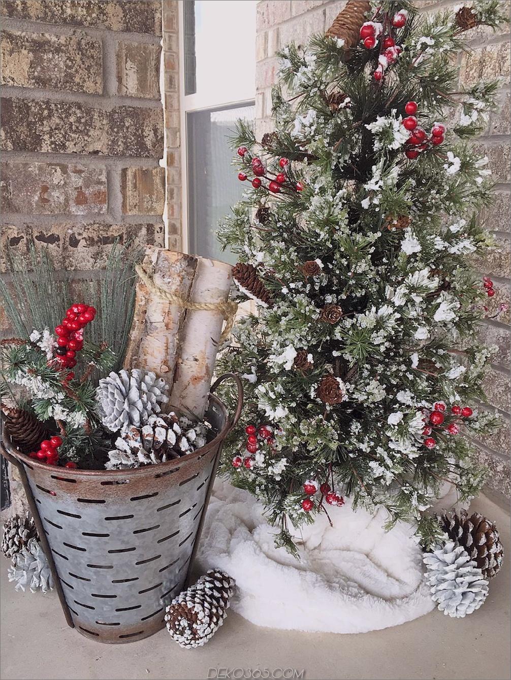 Weihnachtsbaum auf Veranda Fröhlich Veranda Dekor, dass Urlaub Urlaub Spaß schreien