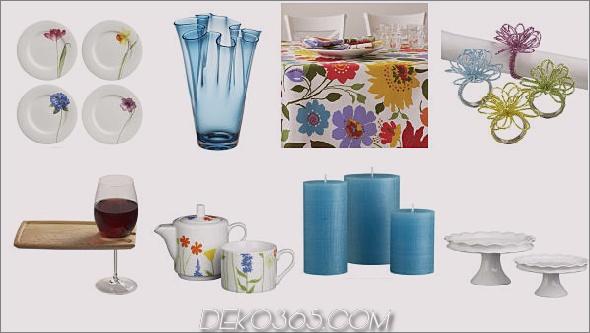 Tischdekoration mit Frühlings-Tischdekoration Tischdekorationen mit Frühlings-Tischdeko von Designer Lillian Pikus