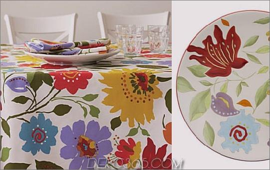 Tessie Tischtuch Serviette Spring Tischdekorationen und Tischdekorationen von Designer Lillian Pikus