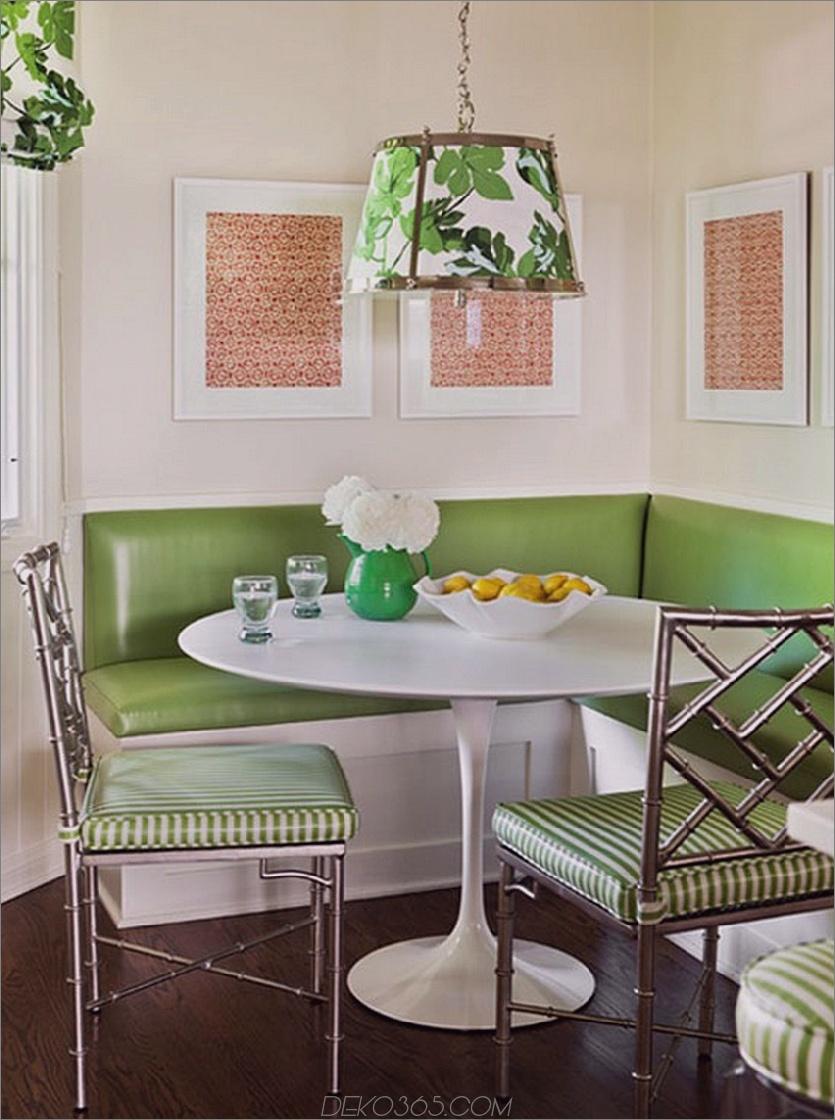 Grüner Frühstücksraum