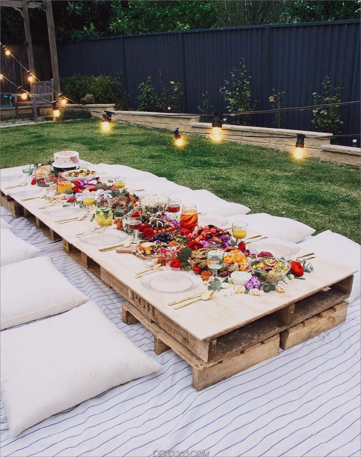 charmante zusätzliche Tabelle Garden Party Ideas To Sommer zu umarmen