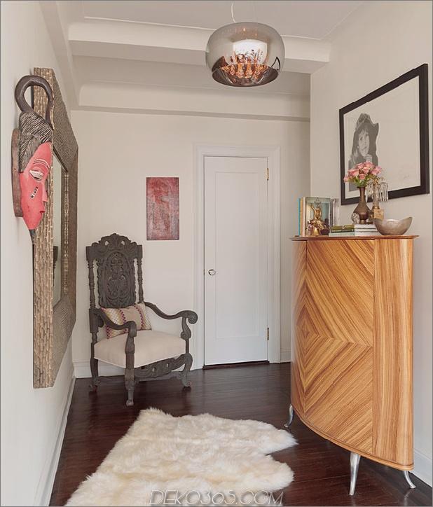 cosy manhattan apartment kombiniert vintage flare modern touches 2 entry thumb 630x737 16982 Das gemütliche Manhattan Apartment kombiniert Vintage Flare mit modernen Akzenten
