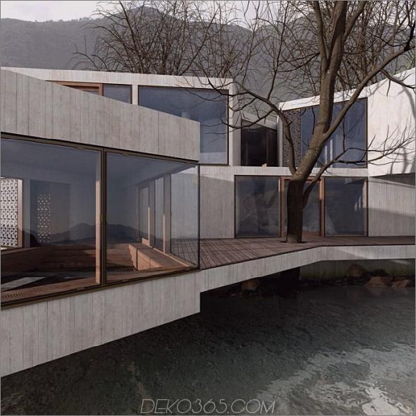 Baumhaus Gästehaus 2 Geometric House Design in China schafft Platz für Bäume