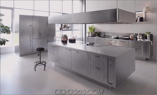 schlanke kostspielige Küche aus Edelstahl abimis 1 thumb 630xauto 37557 Glatte und aufwendige Küche aus Edelstahl von Abimis