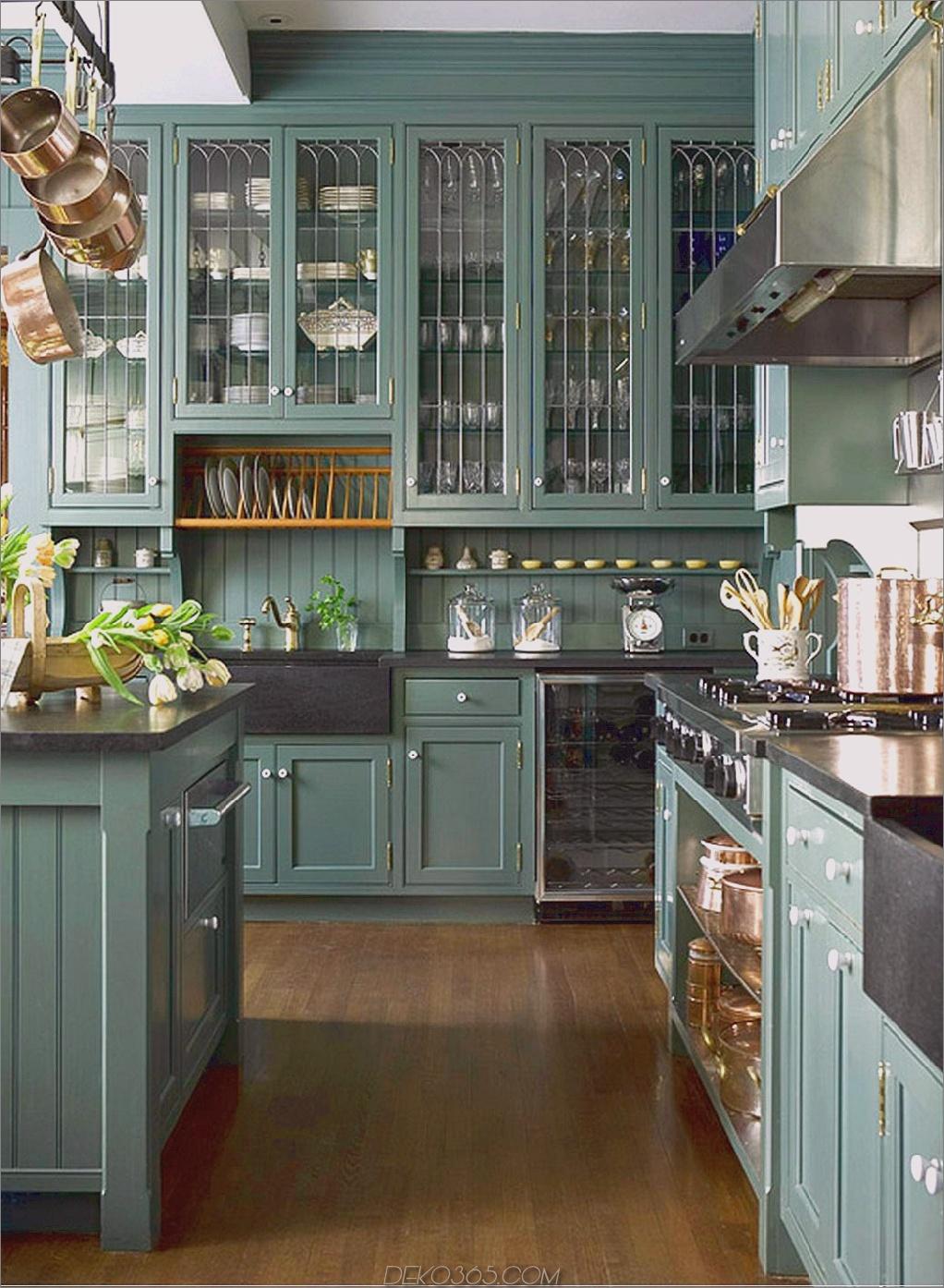 grüne Küchenschränke Grüne Küchen, die Sie neidisch machen