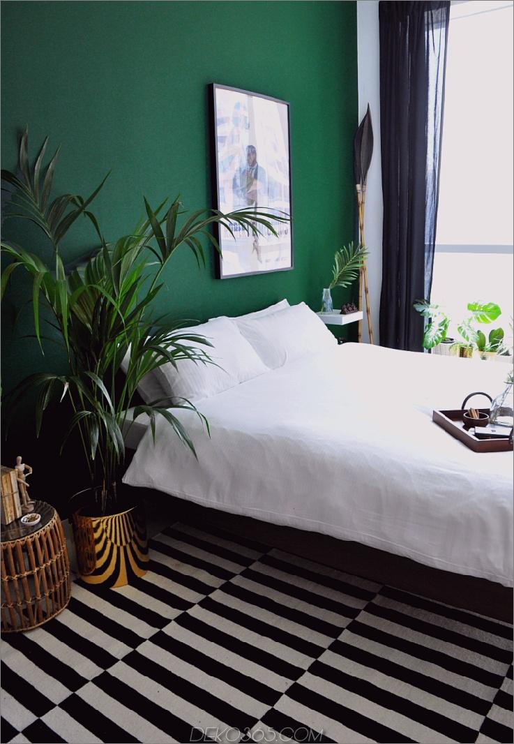 klare und sich wiederholende Ideen für grüne Schlafzimmer, die den Raum auffrischen