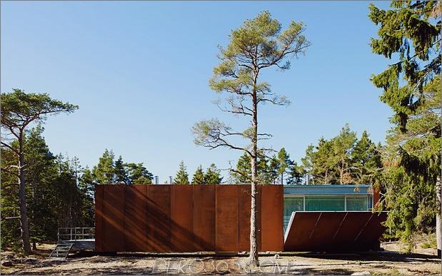 Cortenstahlhaus hydraulisch verstellbare Terrassen 1 thumb 630x393 25686 Beton- und Cortenstahlhaus mit hydraulisch verstellbaren Terrassen
