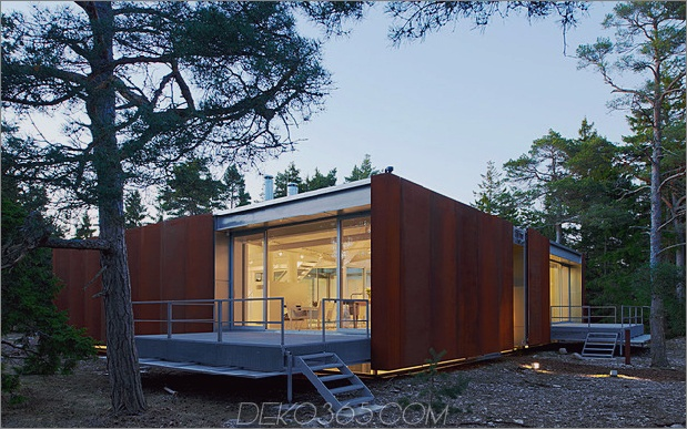 Cortenstahlhaus hydraulisch verstellbare Terrassen 2 thumb 630x393 25688 Beton- und Cortenstahlhaus mit hydraulisch verstellbaren Terrassen